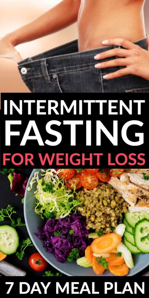 Intermittent Fasting for Weight Loss + 7 Day Meal Plan. Want to know if you should try Intermittent Fasting to lose weight? Here's what you need to know to choose the right intermittent fasting schedule - How fasting works, the benefits, rules, and what to eat to lose weight! Whether you follow a 12:12, 5:2,16:8, or Eat-Stop-Eat intermittent fasting plan you need this beginners guide plus a low carb 7-day meal plan to jump-start your weight loss efforts! #intermittentfasting #lowcarb #keto #mealplan