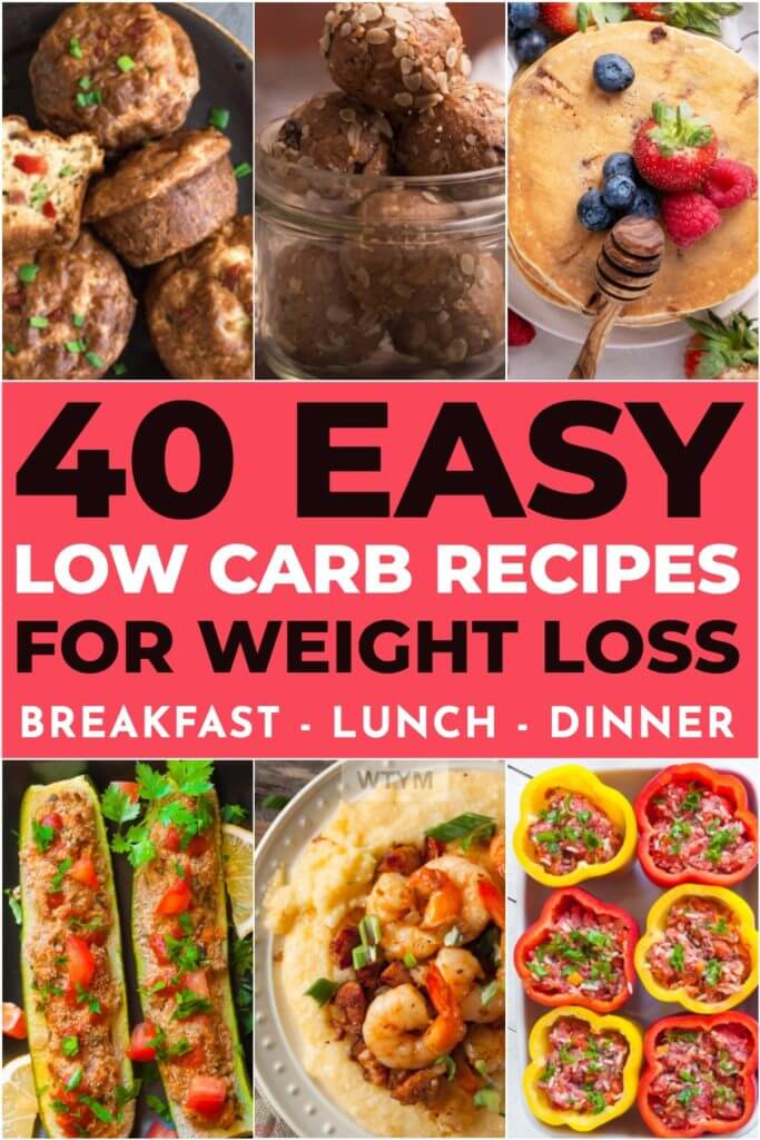 These low carb recipes will jumpstart your weight loss efforts and make meal planning easy! If you're looking for a weight loss meal plan that's healthy and easy a low carb diet is perfect for women! Whether you are researching the best low carb plans like the ketogenic diet or looking for low carb recipes for breakfast, lunch, or dinner, you'll find the results you need right here! #lowcarb #lowcarbrecipes #keto #ketorecipes #healthy