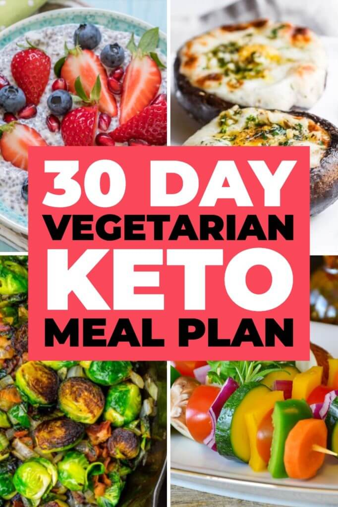 90 Vegetarian Keto Diet Recipes This 30-day Vegetarian Keto Meal Plan is perfect if you're new to the ketogenic diet or you're looking for delicious keto recipes to add to your weekly meal plan! With 90 easy breakfast, lunch, and dinner recipes you'll find great tasting low carb vegetarian keto recipes for every meal! You'll love the Indian dishes, Brussels Sprouts, zucchini noodles, easy crockpot recipes & dairy-free options! #keto #ketorecipes #lowcarb #diet #mealplan #healthyrecipes