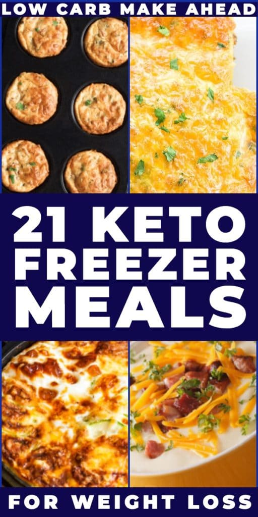 21 Keto Freezer Meals. Looking for keto recipes you can make ahead on meal prep day & freeze? Check out this collection of low carb keto freezer recipes for breakfast, lunch & dinner! Whether you need easy keto freezer meals for your crockpot, slow cooker & Instant Pot or delicious, freezer friendly casseroles I've got you covered with the best keto freezer meals for weight loss! #keto #ketorecipes #lowcarb #freezermeals #makeaheadmeals #freezerfriendly #makeahead