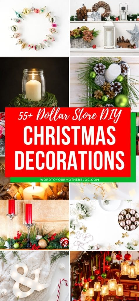 55 Diy Dollar Store Christmas Decorations Diy Tutorials