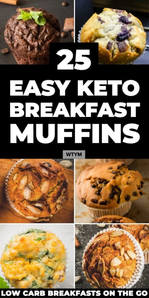 25 Easy Keto Muffin Recipes! The best keto breakfast recipes on the go! 25 keto breakfast muffins made with almond, coconut flour & cream cheese in all your favorite sweet & savory flavors: blueberry, chocolate, cinnamon, banana, pumpkin, zucchini, strawberry & lemon! Plus, keto egg muffins with cheese, sausage and low carb veggies! If you're on the ketogenic diet, these are the easy low carb breakfast muffins you need to start your day! #keto #ketorecipes #lowcarb #lowcarbrecipes #muffins