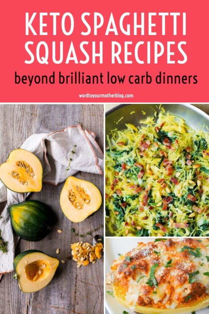The best keto spaghetti squash recipes! If you need a few low carb spaghetti squash recipes to add to your meal plan, check out these easy spaghetti squash recipes. From stuffed spaghetti squash with ground beef and shrimp to chicken alfredo, carbonara, to spaghetti squash casseroles, this collection of healthy dinners is filled with tons of spaghetti squash recipes to help you lose weight! #keto #ketorecipes #glutenfree #spaghettisquash #LowCarbSpaghettiSquash #KetoSpaghettiSquash
