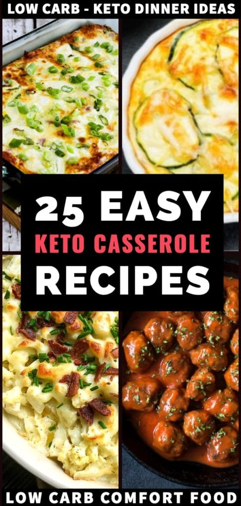 Keto Casserole Recipes. Need easy keto dinners to add to your weekly meal plan? Do not miss these low carb keto casseroles! Perfect for meal prep, these make-ahead keto diet casserole recipes make losing weight on the ketogenic diet easy. From chicken, ground beef, hamburger to vegetarian & dairy-free options, this epic collection of keto casserole recipes covers all the bases! #ketorecipes #ketorecipe #keto #ketocomfortfood #ketodiet #lowcarbrecipes #healthyrecipes #dinner #dinnerrecipes
