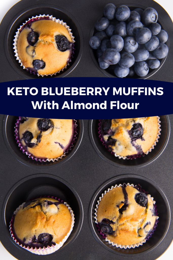 Keto Blueberry Muffins Recipe with Almond Flour Make the best almond flour blueberry muffins from scratch in one bowl or your blender! These low carb paleo blueberry muffins make a fabulous breakfast on the go or snack that's ready in 30 minutes and freezer friendly! #keto #lowcarb #muffins #breakfast #paleo