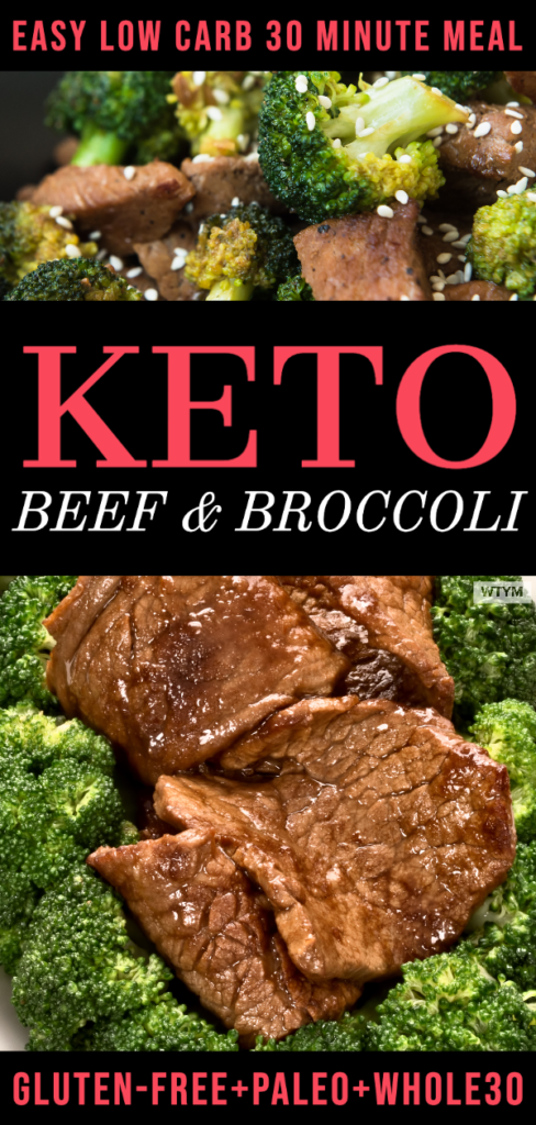 Easy Keto Beef and Broccoli Stir Fry | This simple low carb dinner is ready in 30 minutes! If you're looking for a healthy, paleo, Whole30 approved meal that's delicious, budget-friendly and supports your weight loss goals check out this PF Changs and Panda Express keto copycat dinner recipe! #keto #ketorecipes #lowcarb #beef #beefandbroccoli #ketorecipes #lowcarbrecipe #paleo #paleorecipes