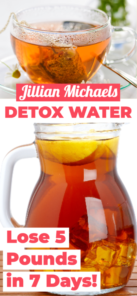 Jillian Michaels Detox Water Recipe | Learn how to make the famous flat belly tea to lose weight fast with dandelion tea, water, lemon,and cranberry. Step by step directions and benefits of the original teatox for weight loss. #detox #detoxwater #infusedwater #jillianmichaels #weightlossteadetoxdrinks
